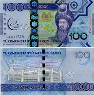 TURKMENISTAN       100 Manat       Comm.       P-41       2017       UNC - Turkmenistan