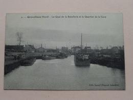 Le Quai De La Batellerie Et Le Quartier De La Gare ( 21 - Lecerf ) Anno 19?? ( Voir Photo Svp ) ! - Gravelines