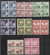 ILE NAURU. Emission Années 1968-1969 (surchargés Republic Of Nauru) 8 Blocs De 4 Neufs ** Côte 30,00 Euro - Nauru
