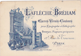 Cpa -75-paris-6e Arr.--lafleche Breham-typographie & Lithographie 12 Rue De Tournon - Paris (06)