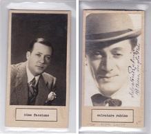 NINO FACCIONE; SALVATORE RUBINO AUTOGRAPH ORIGINAL CIRCA 1940's SIZE 16x8cm- BLEUP - Autogramme & Autographen
