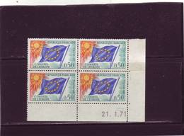 SERVICE N° 33 - 0,50 CONSEIL DE L'EUROPE/DRAPEAU - 21.01.1971 -  (2 Traits) - 1970-1979