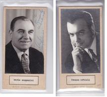 CARLO CAMPANINI; FRANCO ARTIOLI AUTOGRAPH ORIGINAL CIRCA 1940's SIZE 16x8cm- BLEUP - Autographs