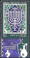 ISRAEL 2018 - Joint Issue With The USA - The Hanukkah Eight-Candles Candelabra - A Stamp With A Tab - MNH - Jewish