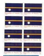 "Drapeau De ILE NAURU. Océan Pacifique. ,inclus Bloc De 4 Surchargés ""Independance"". Neufs **  Côte 12,00 Euro - Nauru"