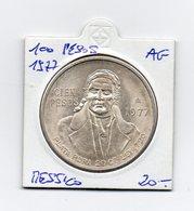 Messico - 1977 - 100 Pesos - Argento - Vedi Foto - (MW1579) - Messico
