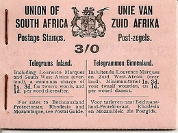 SOUTH AFRICA, 1921, Booklet 3, Georg V (12x ½d, 1d, 1½d In Blocks Of Six - Libretti