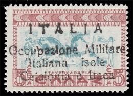 Isole Ionie - Cefalonia E Itaca (Emissione Di Argostoli): Mitologica Del 1937/38 - 5 L. Rosso E Azzurro - 1941 [ - Variétés Et Curiosités