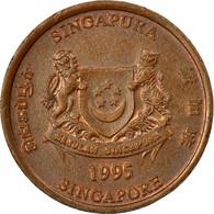 Monnaie, Singapour, Cent, 1995, Singapore Mint, TTB, Copper Plated Zinc, KM:98 - Singapur