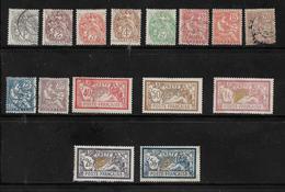Colonie  Timbre De Crete  De 1902/1903  N°1 A 15 Neufs * 5 Oblitérés Cote 205€ - Crète (1902-1903)