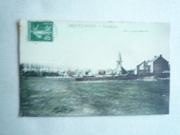 1908 ERQUELINNES PANORAMA EDITIONS LONGFILS CIRCULÉE DOS DIIVISE  ETAT BON COLORISEE - Erquelinnes