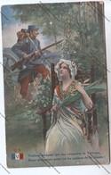 Lot De 3 CPA Militaria L.V.G : Poilus Armes à La Main, Marianne Avec Glaive, Enfant, Canon De 75 - Patriottiche