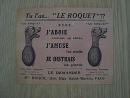 DOCUMENT PUBLICITAIRE LE ROQUET JOUET - Publicités