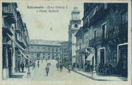 CALTANISETTA CORSO UMBERTO I E PIAZZA GARIBALDI 1925 ANIMATA - Caltanissetta