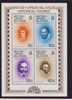 ILES VIERGES 1974 BLOC CELEBRITES YVERT N°B3  NEUF MNH** - Iles Vièrges Britanniques