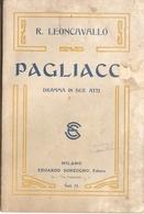 SPARTITO - R. LEONCAVALLO - PAGLIACCI - Spartiti