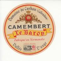 Etiquette De Fromage Camembert - Le Baron - Domaine De Corbon. - Cheese