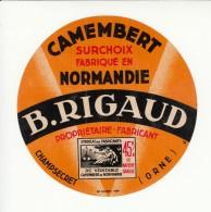 Etiquette De Fromage Camembert - Rigaud - Champsecret - Orne. - Cheese