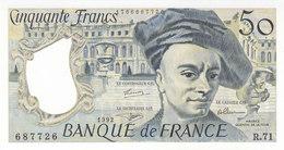 Billet 50 F Quentin De La Tour 1992 FAY F67.18 Alph. R.71 NEUF Dernière Date D'émission - 1962-1997 ''Francs''