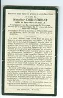 SM Emile Hébrant épx Maria Desseille, Bourgmestre De Marenne, 1923 - Décès
