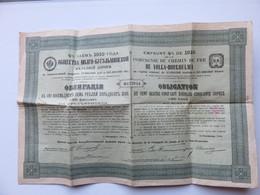 Emprunt 1910 Compagnie Du Chemin De Fer VOLGA-BOUGOULMA - Chemin De Fer & Tramway
