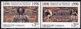 Uruguay - 1996 - Centenary Of Uruguay National Bank - Mint Stamp Set - Uruguay