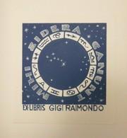Ex-libris Illustré XXème - Italie - Gigi RAIMONDO - Ex-libris