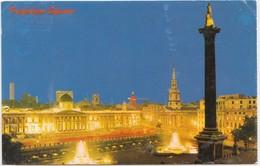 Trafalgar Square, London, United Kingdom, By Night, 1972 Used Postcard [21946] - Trafalgar Square