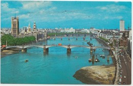 Lambeth Bridge, Houses Of Parliament And River Thames, LONDON, 1977 Used Postcard [21947] - Houses Of Parliament