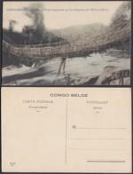 Congo Belge 1910 - Carte Postale Nr. 101.  Pont Suspendu Sur Les Rapides D'Elila à Micici  Ref. (DD)  DC0232 - Congo Belge - Autres