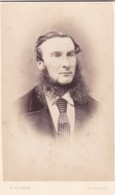 ANTIQUE CDV PHOTOGRAPH -  MAN WITH STRAGGLY BEARD/WHISKERS. DUMFRIES  STUDIO - Photographs