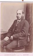 ANTIQUE CDV PHOTOGRAPH -  SEATED WHSKERED MAN. BUXTON STUDIO - Photographs