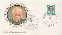 Italy Set On 5 FDCs - Famous People