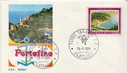 Italy Set On 2 FDCs - Holidays & Tourism