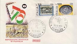 Italy Set On 3 FDCs - Philatelic Exhibitions