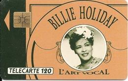 CARTE-a-PUBLIC-F192.774-120U-SO3-09/91-BILLIE HOLIDAY-A Pointu A 1A5177-UTILISE-TBE - France