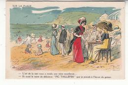 Illustrateur - Henriot - Caves Pams Frères De Port-vendres - Sur La Plage - Pic Taillefer - Henriot