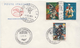 Italy Set On FDC - Stamp's Day