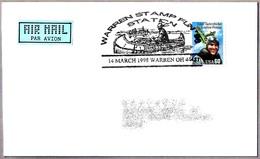 WARREN STAMPS FUN - CANOA - CANOE. Warren OH 1998 - American Indians