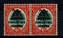 Ref 1234 - 1941 South Africa 6d Stamps Overprinted KUT Kenya Uganda Tanganyika - SG 153 Mint Pair - Kenya, Uganda & Tanganyika