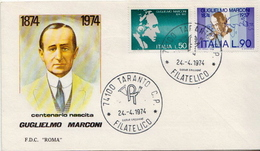 Italy Pair On FDC - Famous People