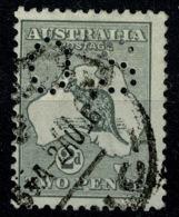 Ref 1234 - 1915 Australia 2d KGV Used Kangeroo Stamp - Official Perfin SG O43 - 1855-1912 South Australia