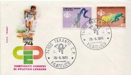 Italy Pair On FDC - Athletics
