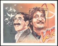 ABKHAZIE ABKHAZIA 1994, GROUCHO MARX Et JOHN LENNON, 1 Bloc, Neuf / Mint. R360 - Géorgie