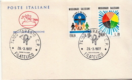 Italy Pair On FDC - Christianity