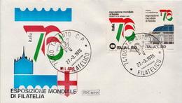 Italy Pair On FDC - Philatelic Exhibitions