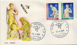 Italy Pair On FDC - Europa-CEPT