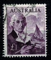 Ref 1234 - Australia 1964 Stamp SG 359 - £1 Bass - Good Used Cat £16+ - 1966-79 Elizabeth II