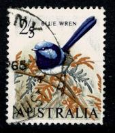 Ref 1234 - Australia 1965 SG 365a - 2/5 Blue Wren Bird Stamp - Good Used Cat £9 + - 1952-65 Elizabeth II : Pre-Decimals