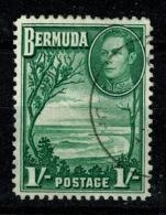 Ref 1234 - Bermuda 1952 - KGV 1/= SG 115a - Fine Used Stamp - Bermuda